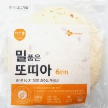 이츠웰 밀품은또띠아(냉동 6인치 12장 240g)