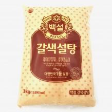 백설 갈색설탕(3Kg)